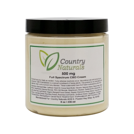 Country Naturals 500mg Full Spectrum Cream 8oz JUST $43!