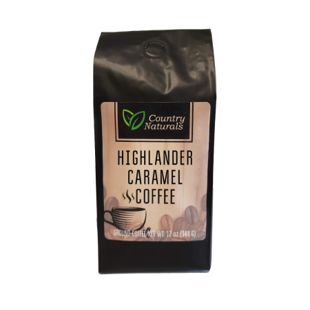 Highlander Caramel coffee 12oz Bag